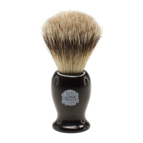 Progress Vulfix Super Badger Shaving Brush, Medium Black Handle VX-660MEDB