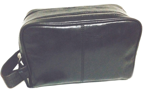 Savile Row Toiletry Bag, Dual Top-zip