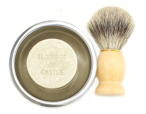 Shaving Set: Shaving Soap, Brush and Shaving Bowl