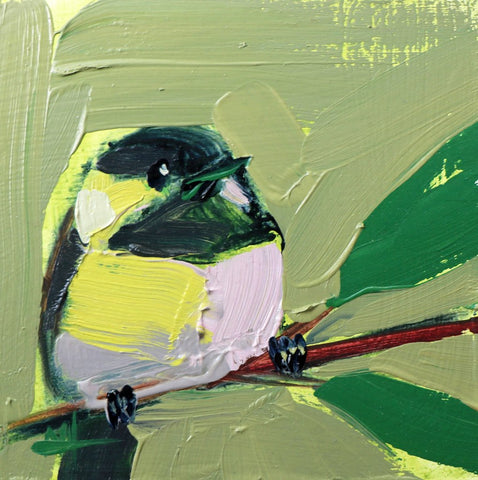 Green and Yellow Painted Bird