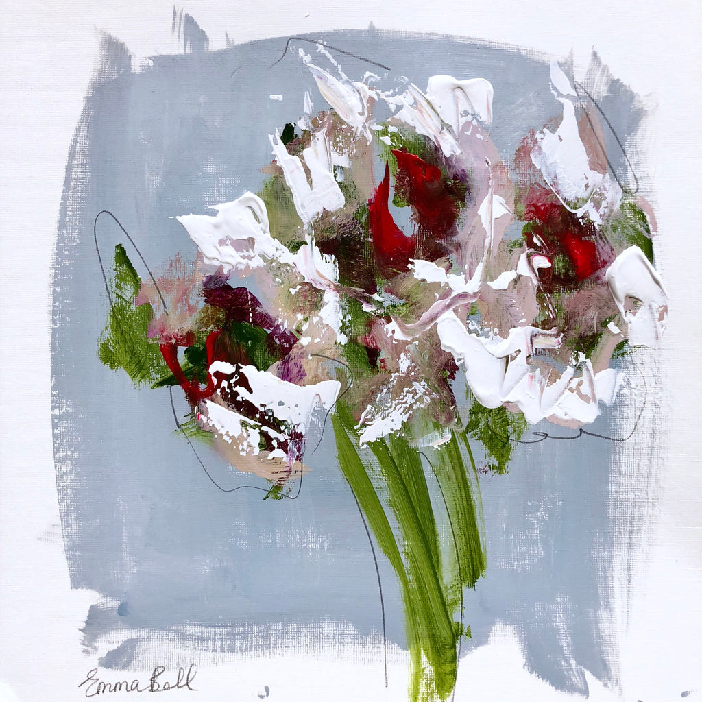 Florals on Paper XI painting Emma Bell - Christenberry Collection