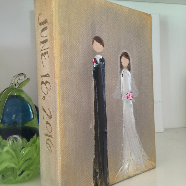 Bride and Groom painting Lori Mitchell - Christenberry Collection