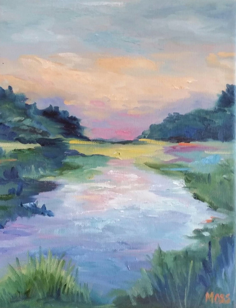 Carolina Coastal painting Jenny Moss - Christenberry Collection