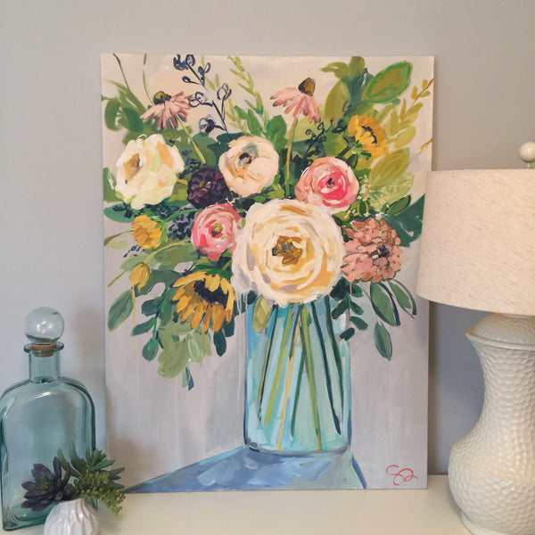 Floral painting Shields Catone - Christenberry Collection