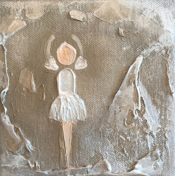 Little Ballerina with White Tutu painting Lori Mitchell - Christenberry Collection