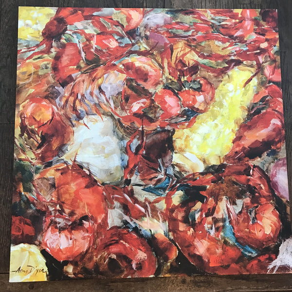 Crawfish Y'all painting Amy Dixon - Christenberry Collection