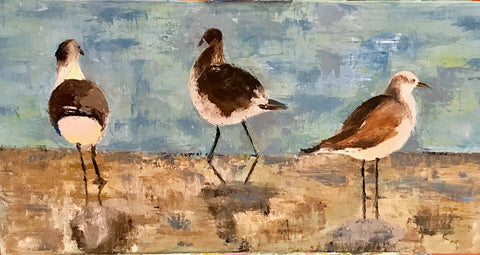 3 Gulls painting Braden Grafe - Christenberry Collection