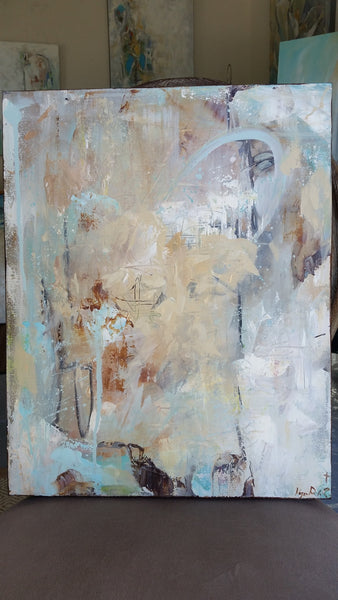 Abstract - Chocolate Lover painting Kym De Los Reyes - Christenberry Collection