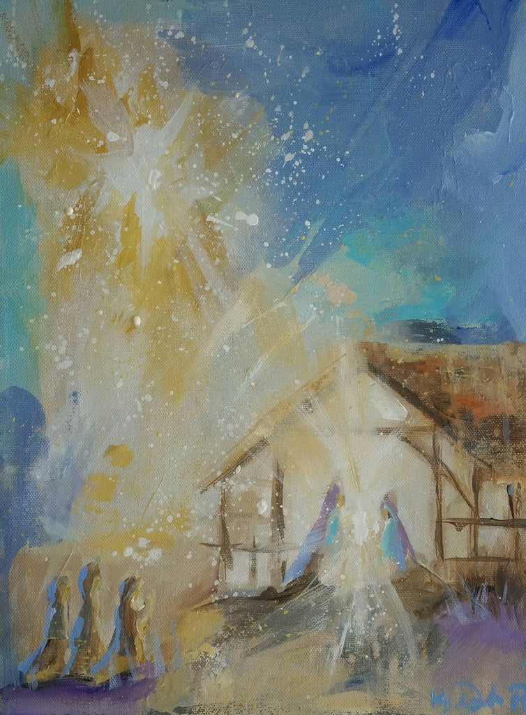 Christmas - Silent Night painting Kym De Los Reyes - Christenberry Collection