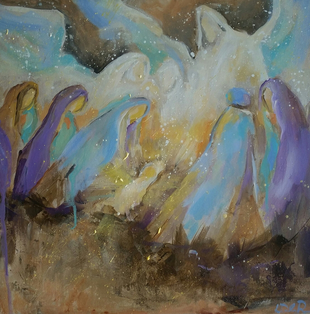Christmas - Harold Angels Sing painting Kym De Los Reyes - Christenberry Collection