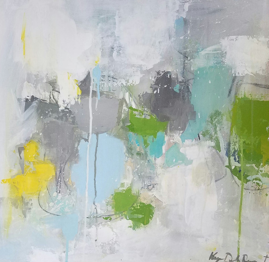 Abstract - Evergreen painting Kym De Los Reyes - Christenberry Collection