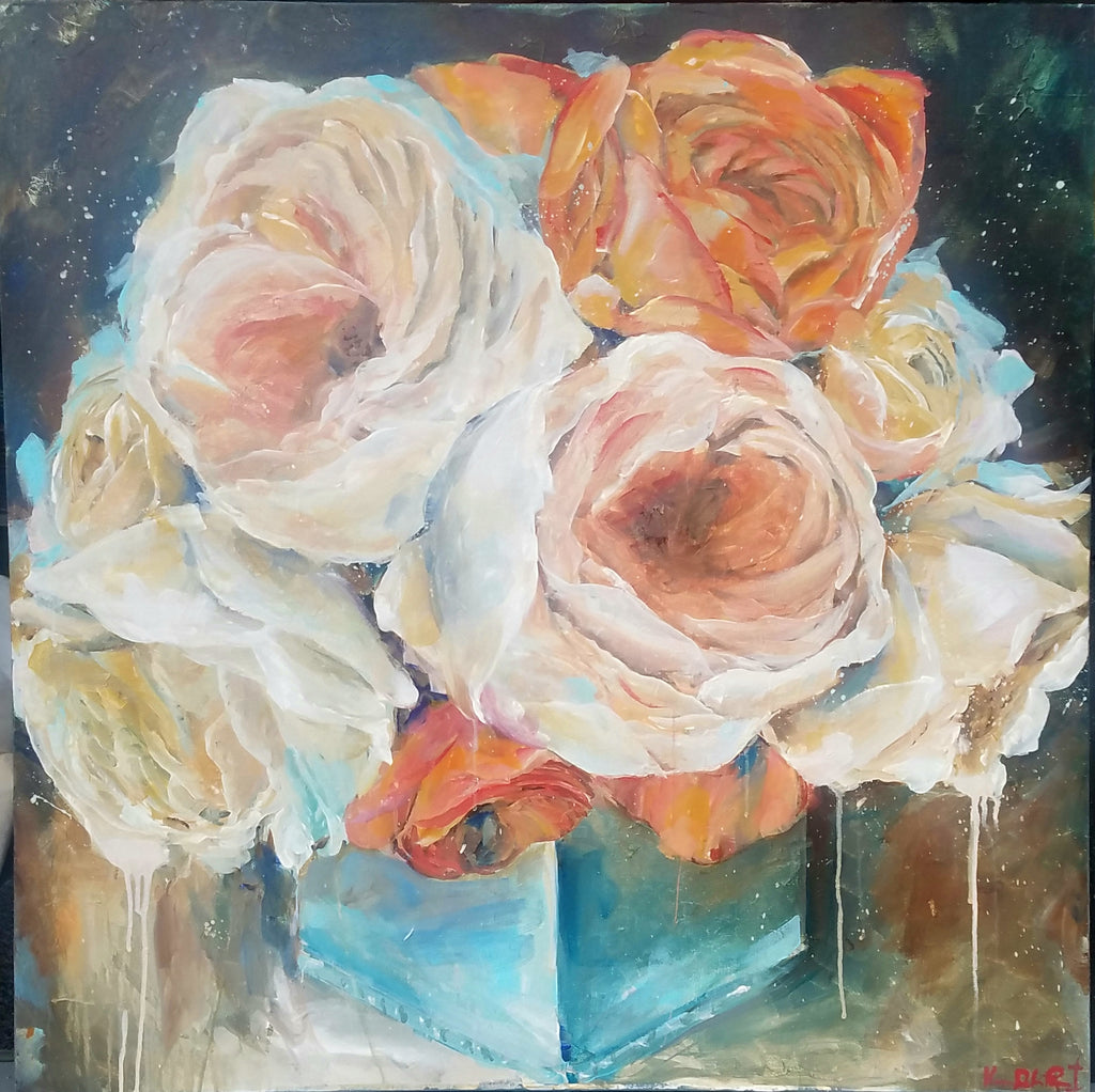 Floral - Her Favorite Palette painting Kym De Los Reyes - Christenberry Collection
