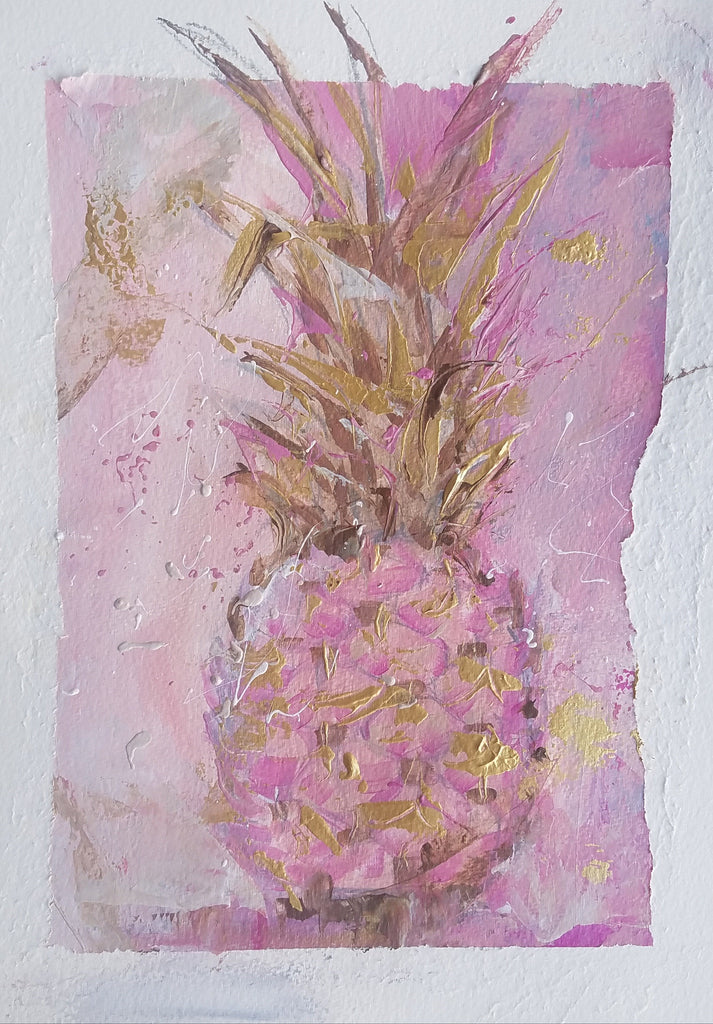 Sweet and Pink painting Kym De Los Reyes - Christenberry Collection