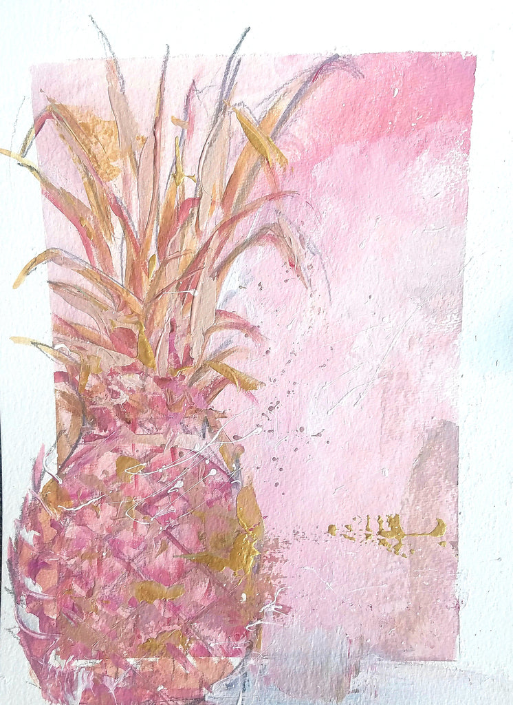 Blush Welcome painting Kym De Los Reyes - Christenberry Collection