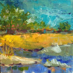 Landscape 1 painting Pamela Wingard - Christenberry Collection