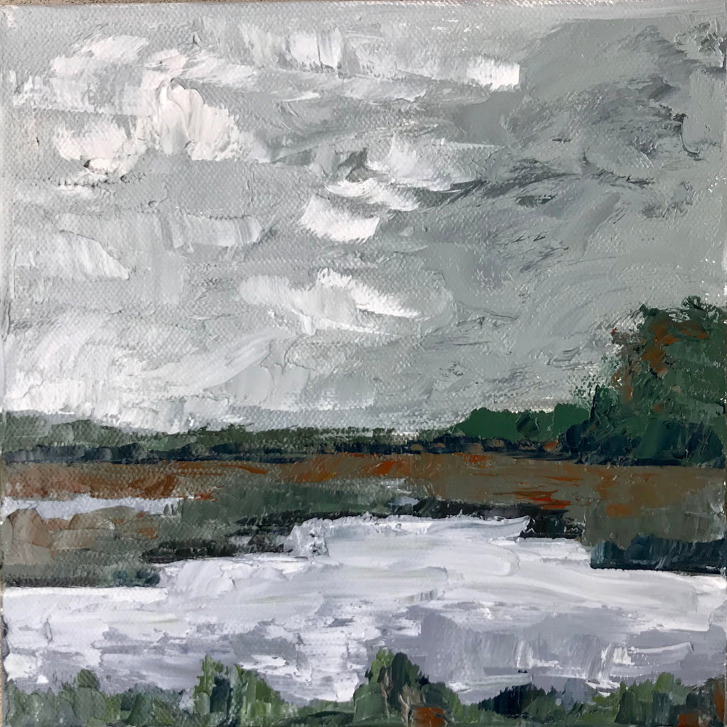 Storm on the Marsh painting Braden Grafe - Christenberry Collection