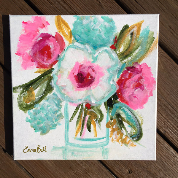 Mini Floral II painting Emma Bell - Christenberry Collection
