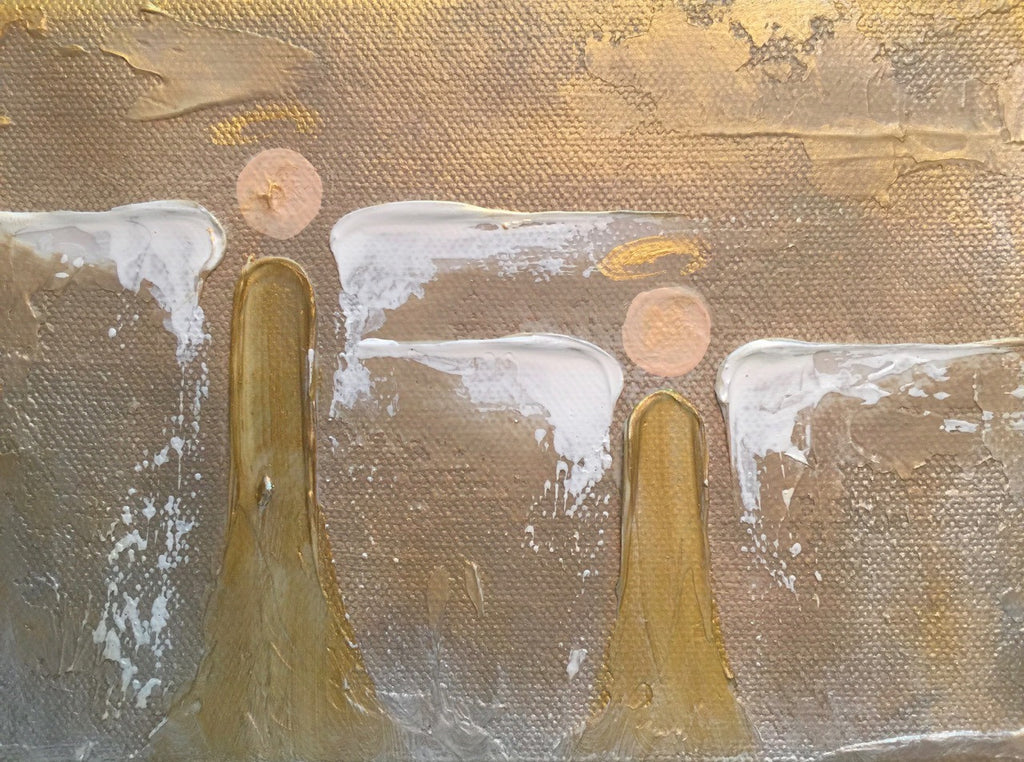 Two Angels painting Lori Mitchell - Christenberry Collection
