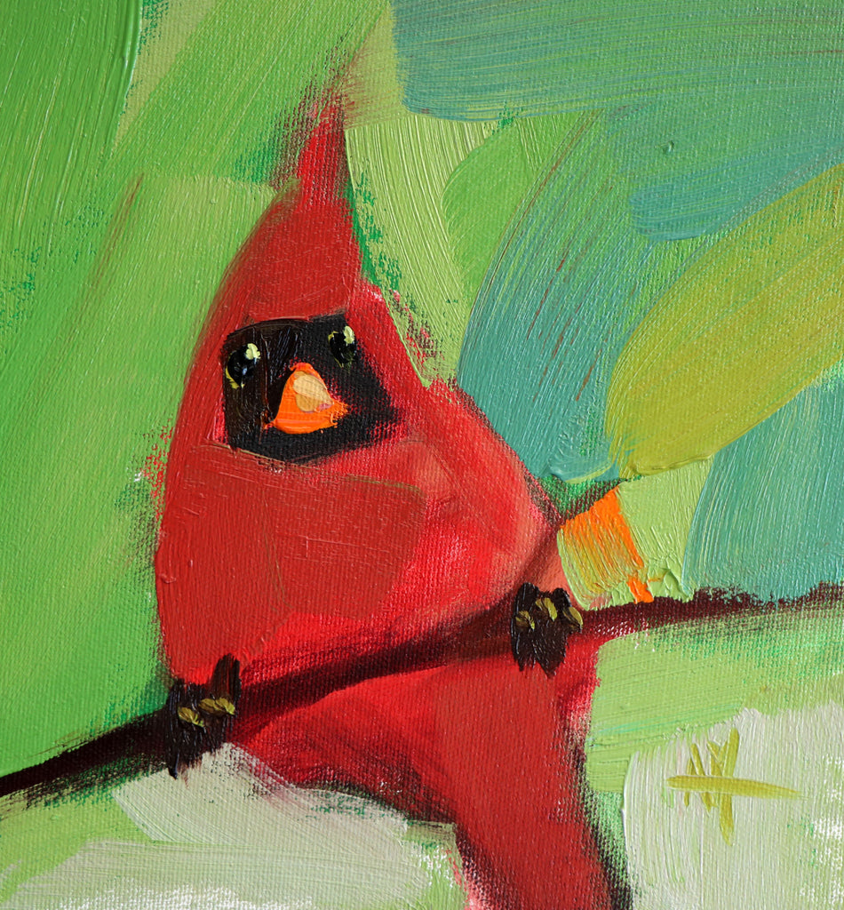 Cardinal No. 241 painting Angela Moulton - Christenberry Collection