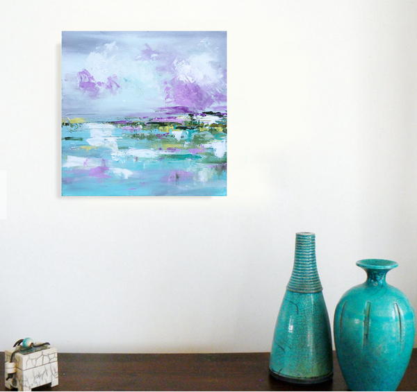 A Carolina Sky 2 painting Emma Bell - Christenberry Collection