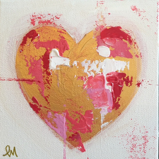 Hearts 3 painting Lori Mitchell - Christenberry Collection