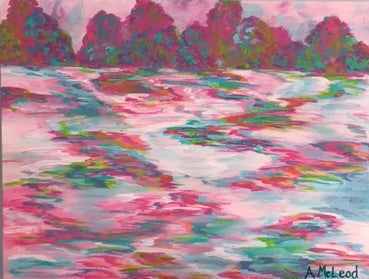 Pink Abstract Landscape