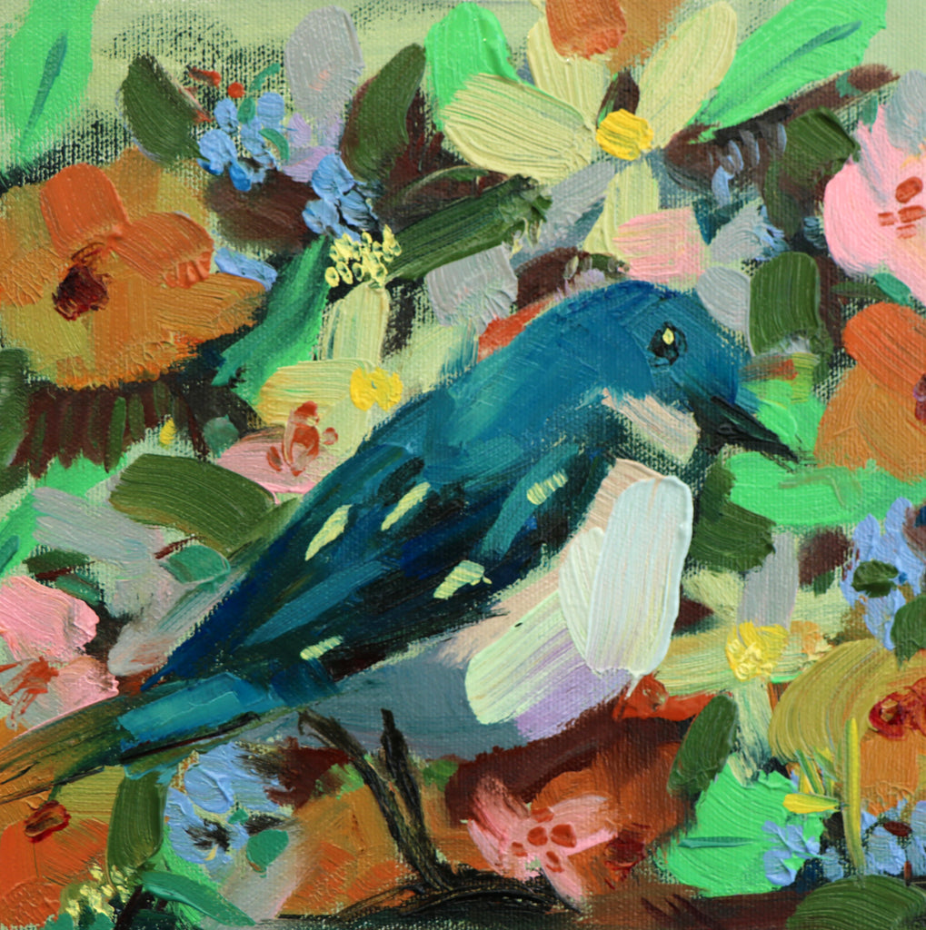 Cerulean Warbler No. 102 painting Angela Moulton - Christenberry Collection