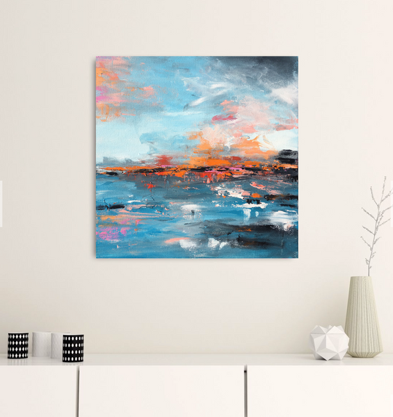 A Carolina Sky painting Emma Bell - Christenberry Collection