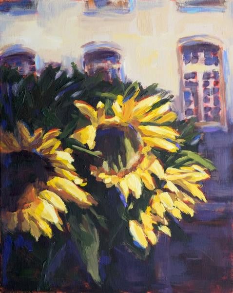 French Market Flora painting Kelly Berger - Christenberry Collection