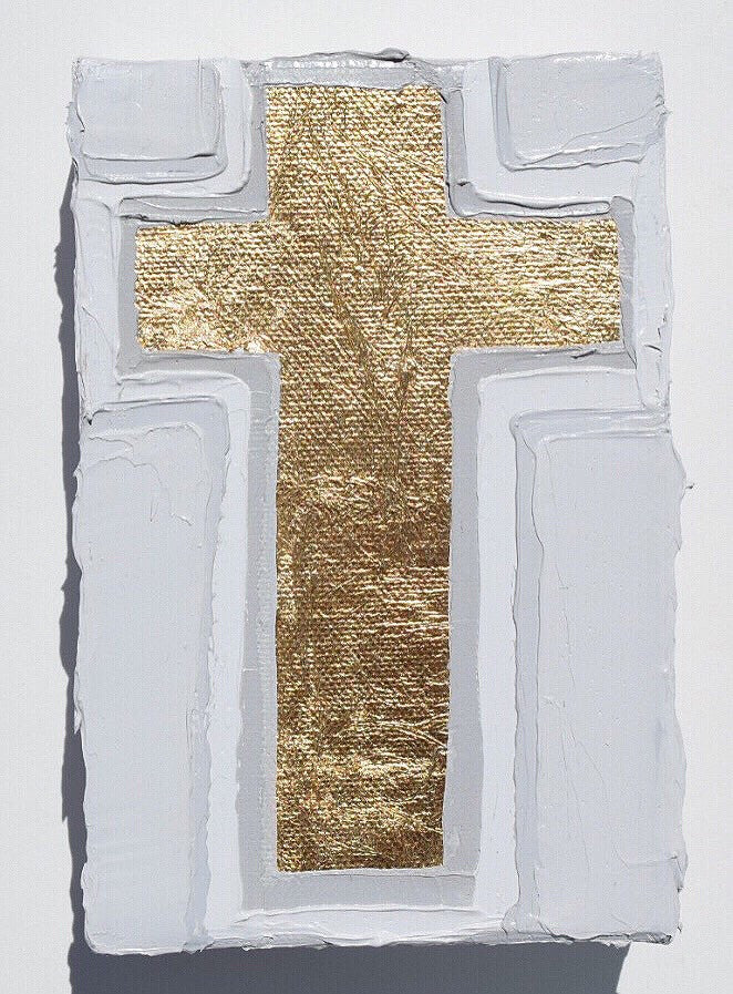 Cross 6 painting Amanda Petro - Christenberry Collection