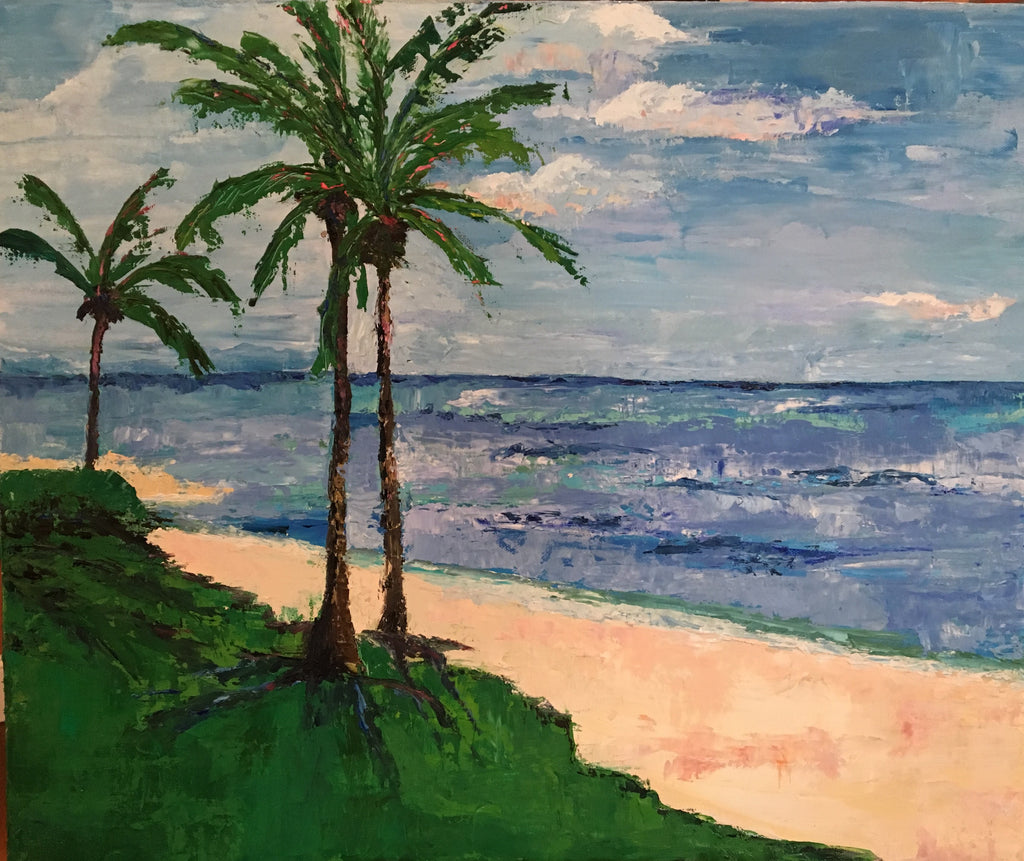 3 Palms painting Braden Grafe - Christenberry Collection