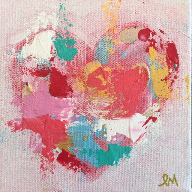 Hearts 4 painting Lori Mitchell - Christenberry Collection