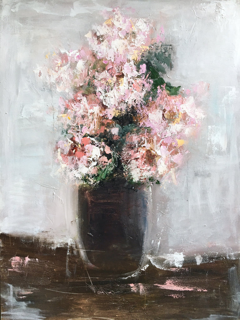 The Prettiest Peonies painting Emma Bell - Christenberry Collection