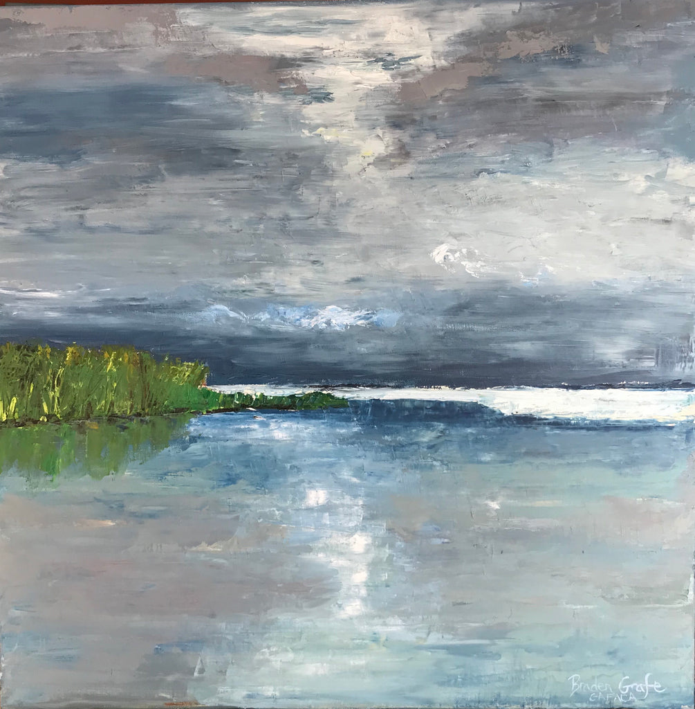 Storm on the Bay painting Braden Grafe - Christenberry Collection