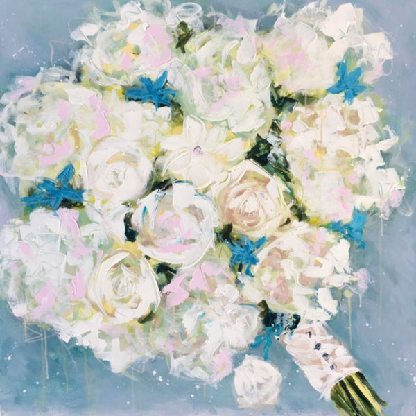 Wedding Bouquet Commissions by Emma Bell painting Emma Bell - Christenberry Collection