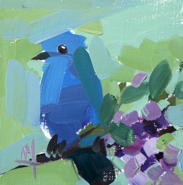 Bluebird No. 101 painting Angela Moulton - Christenberry Collection