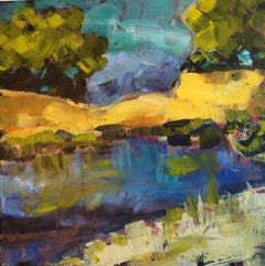 Landscape 2 painting Pamela Wingard - Christenberry Collection