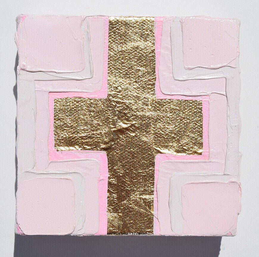 Cross 1 painting Amanda Petro - Christenberry Collection