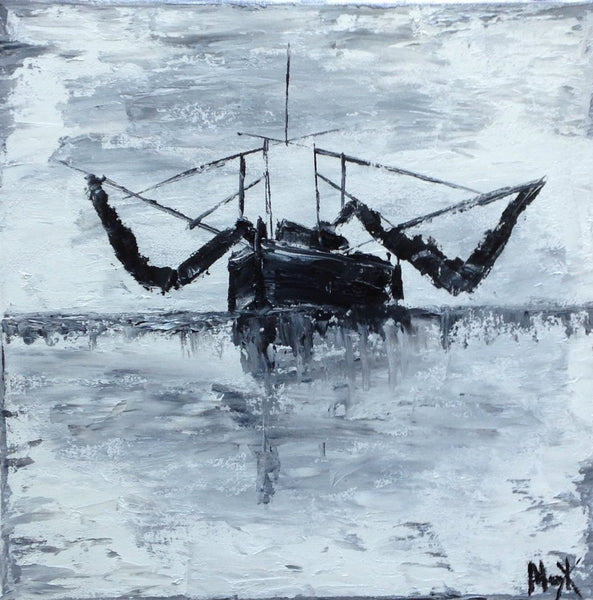 Shrimp Boat painting Mary Kathryn Kendig - Christenberry Collection