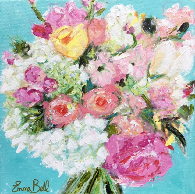 - GIFT CERTIFICATE - Wedding Bouquet Portrait by Emma Bell painting Emma Bell - Christenberry Collection