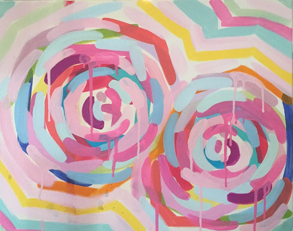 Peonies # 2 painting Ashley Williams - Christenberry Collection