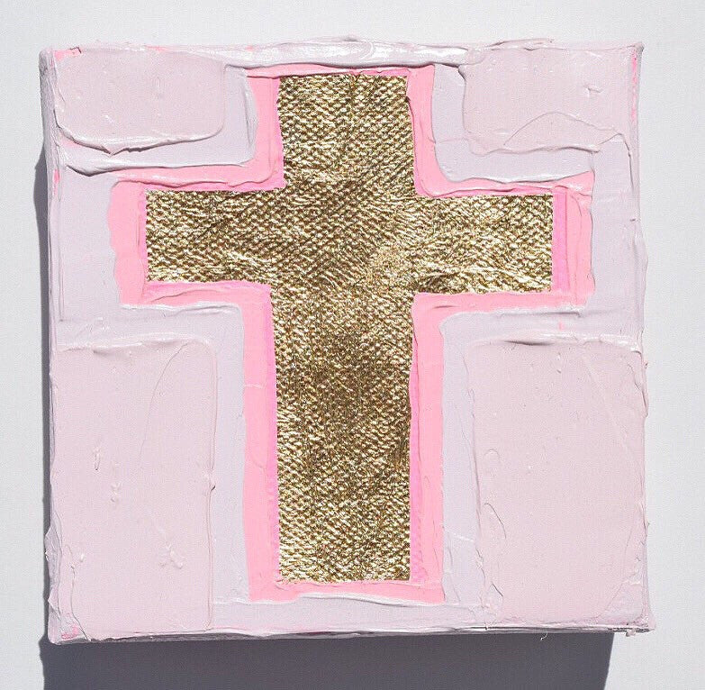Cross 5 painting Amanda Petro - Christenberry Collection