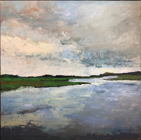 Stormy Marsh painting Braden Grafe - Christenberry Collection