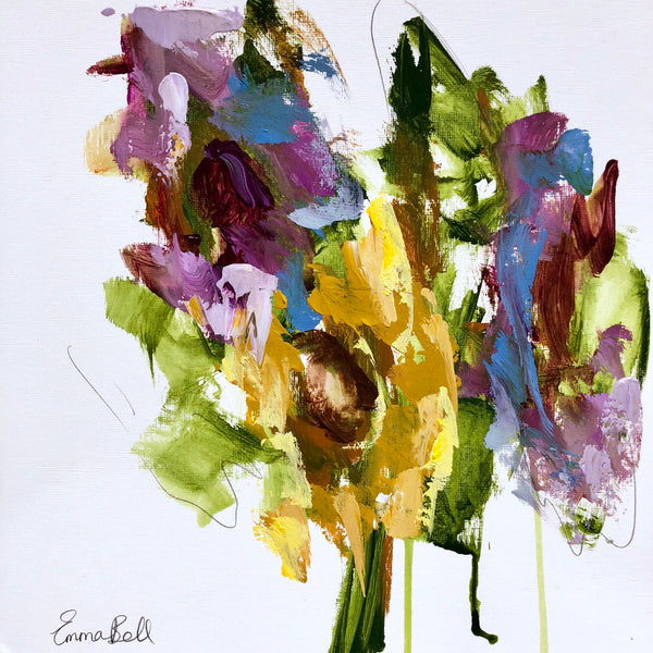 Florals on Paper I painting Emma Bell - Christenberry Collection