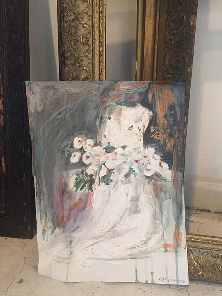 Wedding Bouquet painting Michalle Sessions - Christenberry Collection