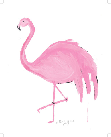 Frances The Flamingo painting Jane Marie Edwards - Christenberry Collection
