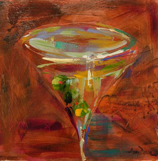 Martini II painting Amy Dixon - Christenberry Collection