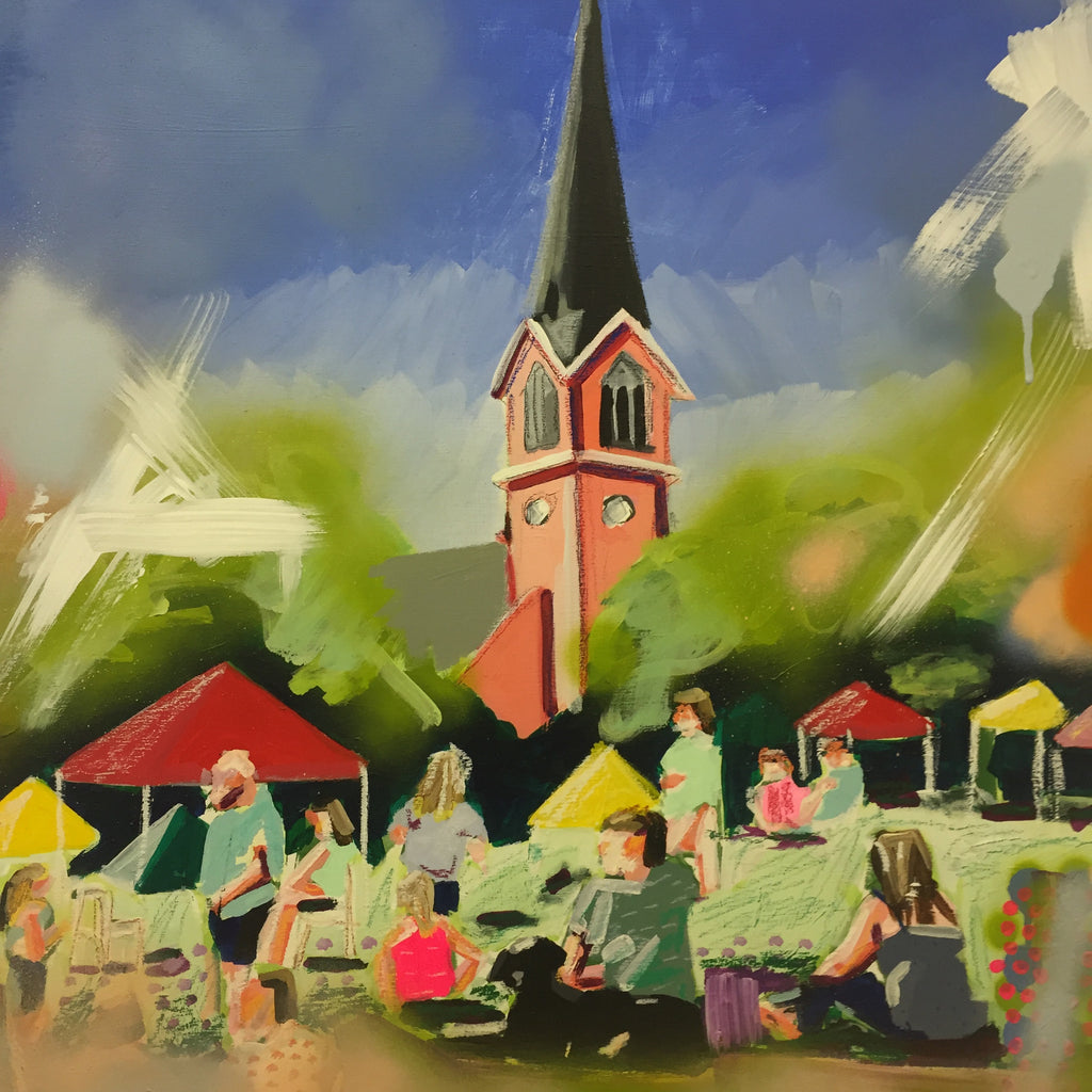 Another Day at the Market painting Kate Waddell - Christenberry Collection
