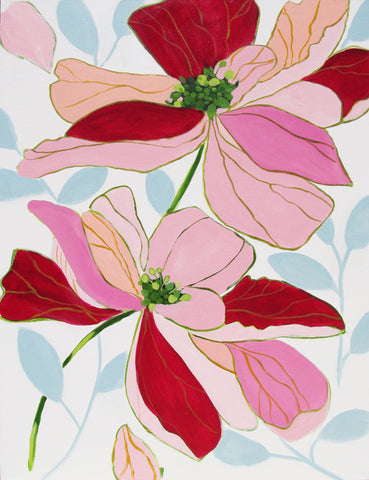 Bodacious Blooms painting Kristin Cooney - Christenberry Collection