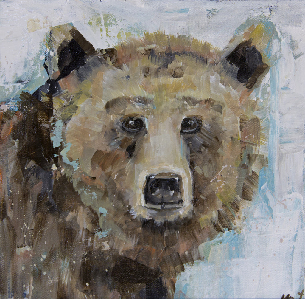 Animal - Brother Bear painting Kym De Los Reyes - Christenberry Collection